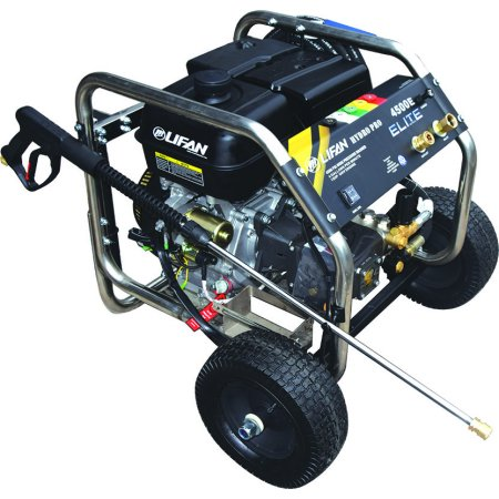New Design Lifan Electric Start Stainless Steel Frame  Elite  Series Hydro Pro Commercial Pressure Washer 4500 Psi 4 Gpm Ar Premium Rrv Tri Plex High Pressure Pump Gas Engine With Panel Mounted Controls