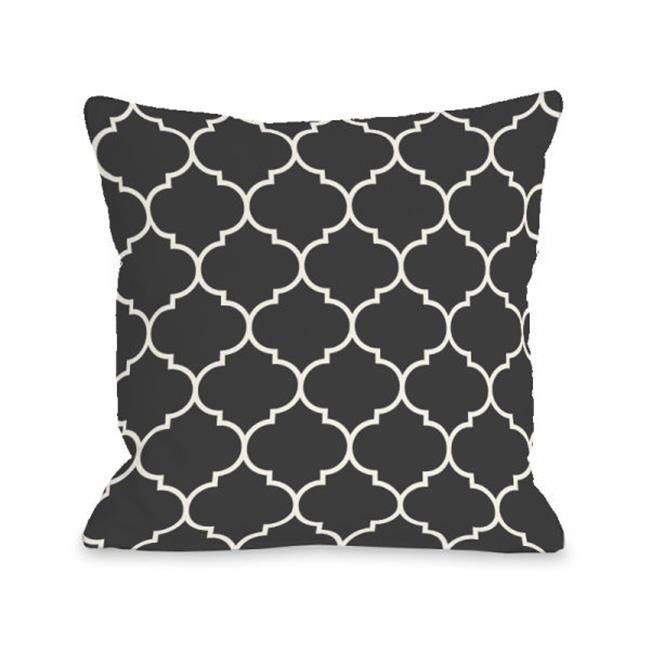 One Bella Casa 74700PL16O 16 x 16 in. Repeating Moroccan Outdoor Pillow - Charcoal - image 1 de 1