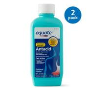 Equate Maximum Strength Antacid/Anti-Gas Original Flavor Liquid, 400 mg, 12 Oz