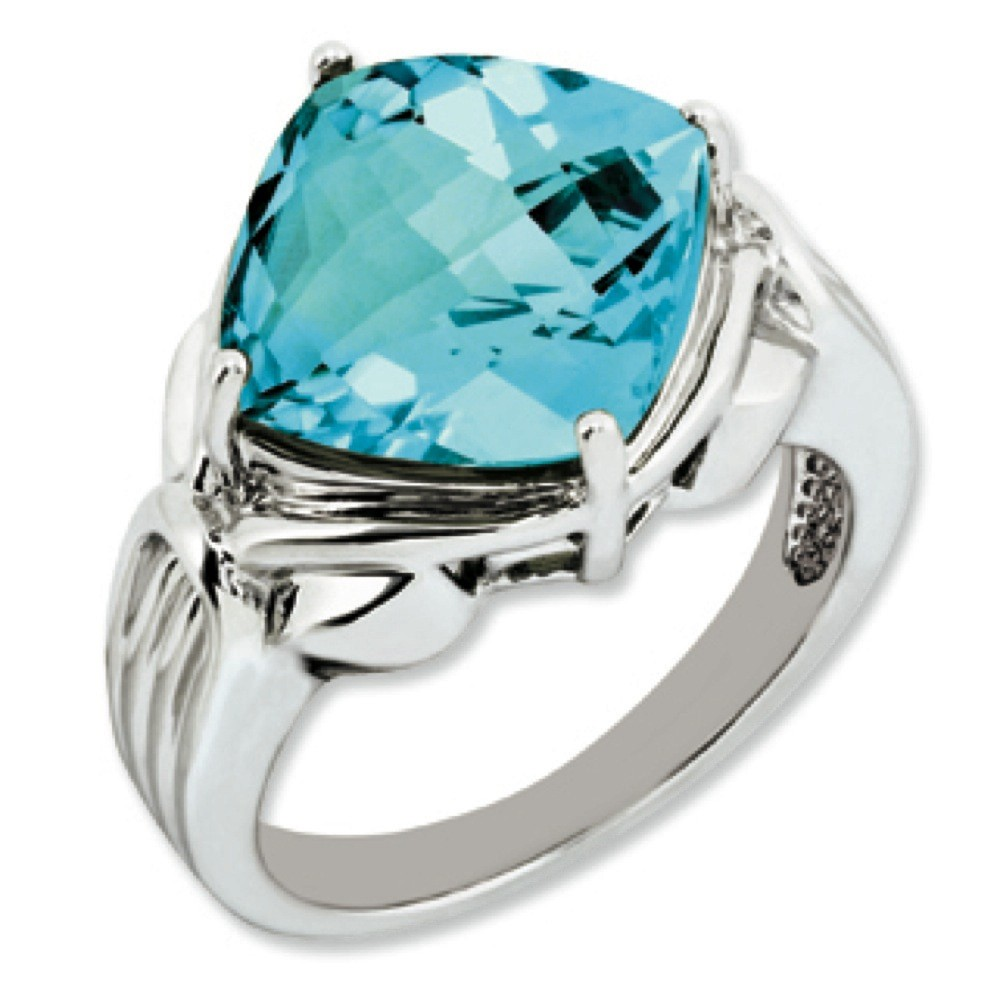 Sterling Silver Blue Topaz Ring Ring Size: 5 to 10 by Kevin Jewelers