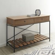 BELLEZE Modern Craftsman Console Sofa Table, Brown