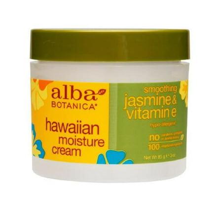 Alba Botanica Crème hydratante hawaïenne, Jasmine et vitamine E, 3 oz (Pack of 6)