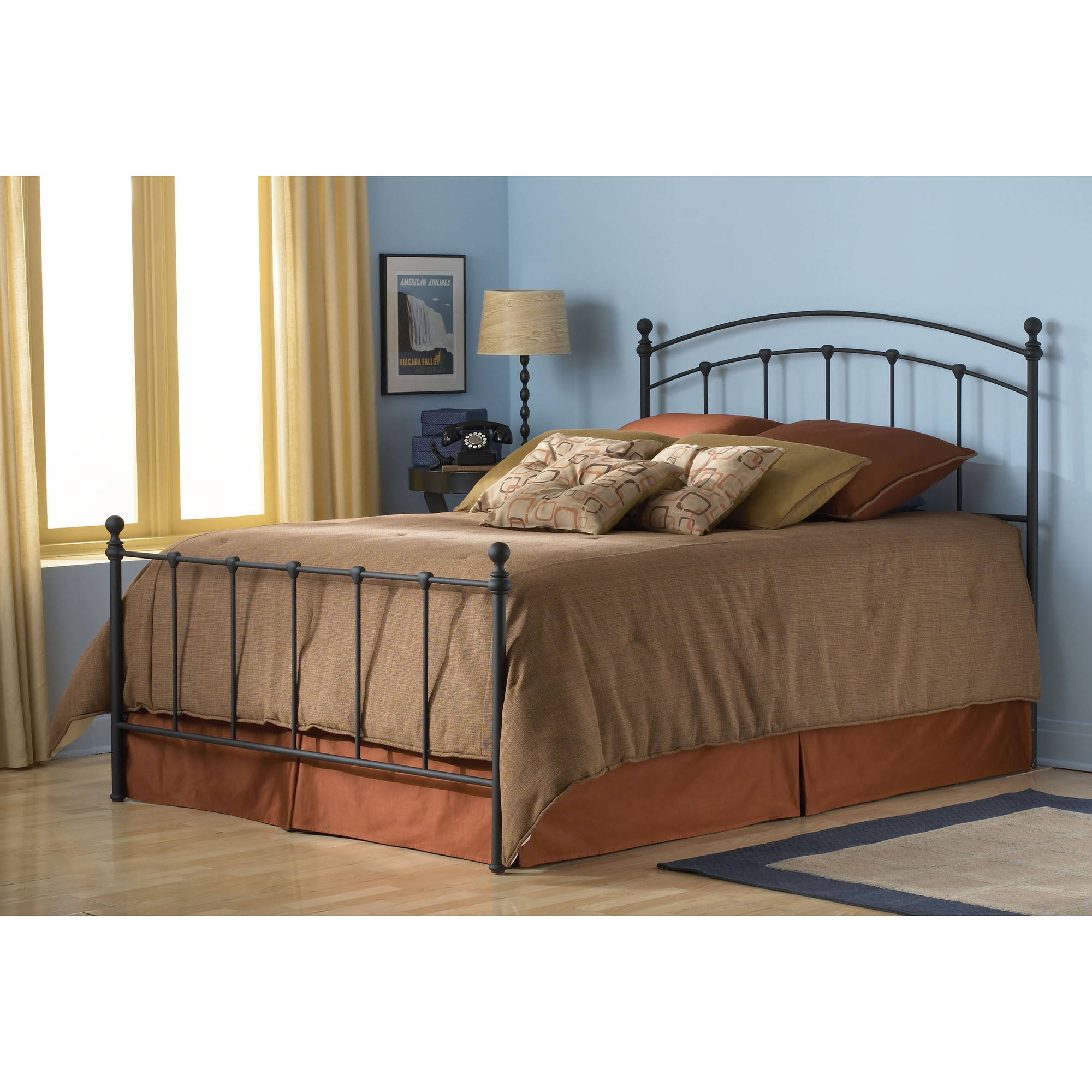 Fashion Bed Group by Leggett & Platt Sanford Matte Black Bed, Multiple Sizes