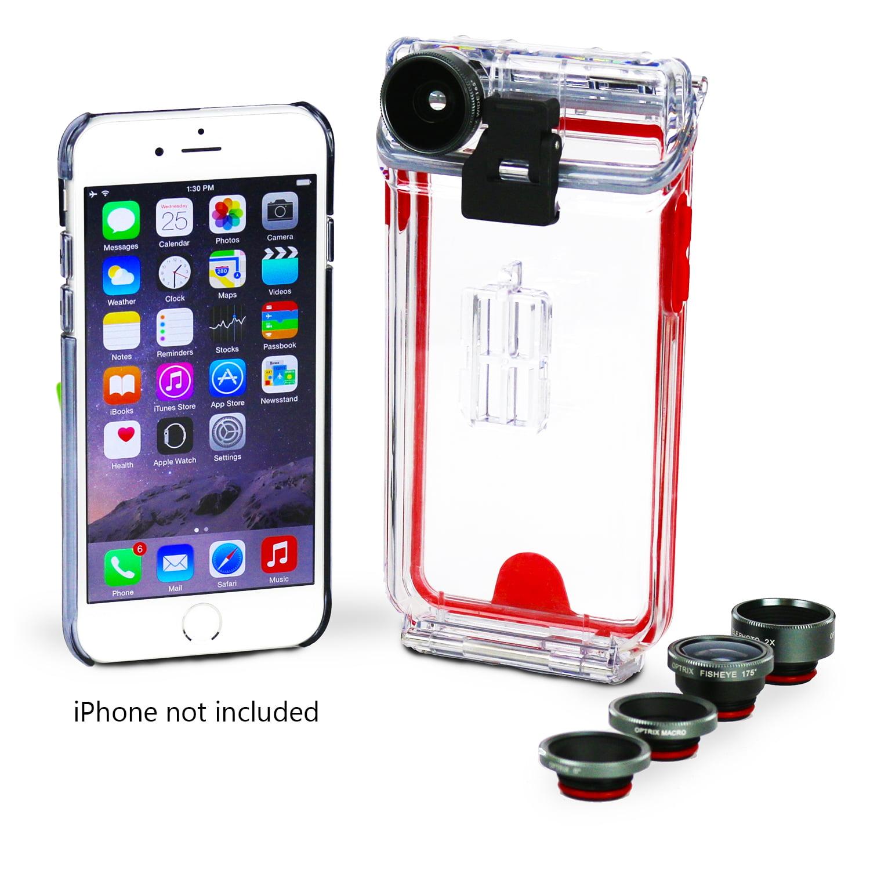 Body Glove Optrix Pro Apple iPhone 6 6s Interchangeable 4 Lens Kit Waterproof Case by Fellowes