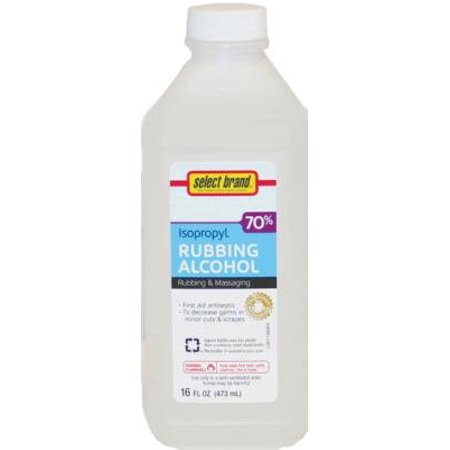 Select Brand 70  Isopropyl Alcohol 16 Oz   Pack Of 12
