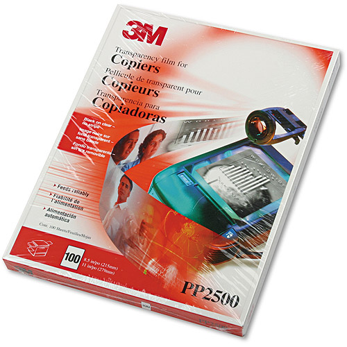 3M PP2500 - 3m Transparency Film for Laser Copiers