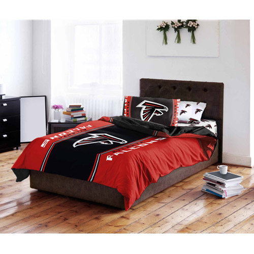 Bedroom Sets Atlanta nfl atlanta falcons bed in a bag complete bedding set - walmart