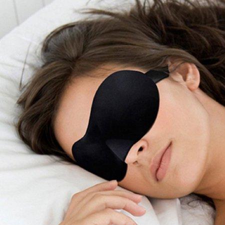 1Pcs Soft Portable Travel Relax 3D Natural Sleeping Eye Mask for Women Men - image 2 de 10