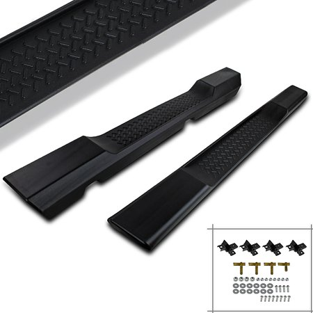 Spec-D Tuning For 2007-2016 Jeep Wrangler 2-Door Sport Utility Nerf Side Step Bar Running Boards 2007 2008 2009 2010 2011 2012 2013 2014 2015 2016