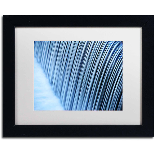 "Trademark Fine Art ""Liquid State"" Canvas Art by Philippe Sainte-Laudy, White Matte, Black Frame, Archival Paper"