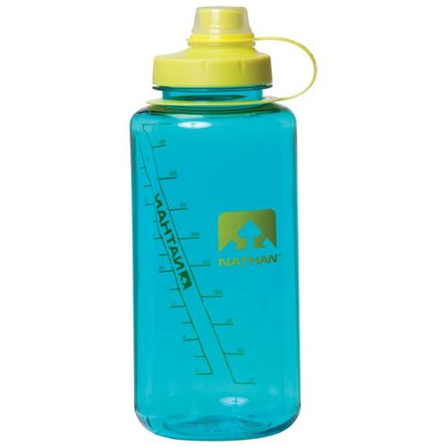 Nathan Hydration 2014 BigShot Narrow Mouth Water Bottle - 1L - 4321 (Teal/Celeste Yellow)