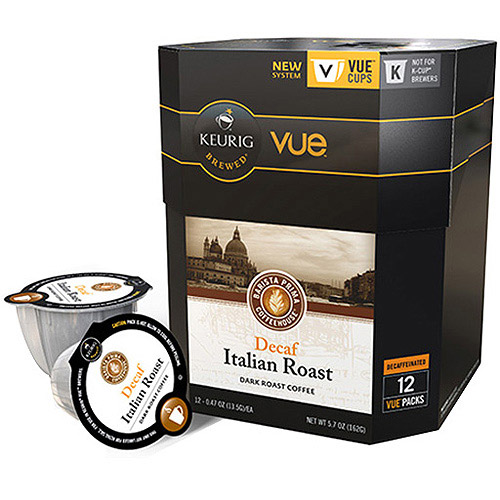 Keurig Decaf Italian Dark Roast Coffee VUE Cups, 0.47 oz, 12 count