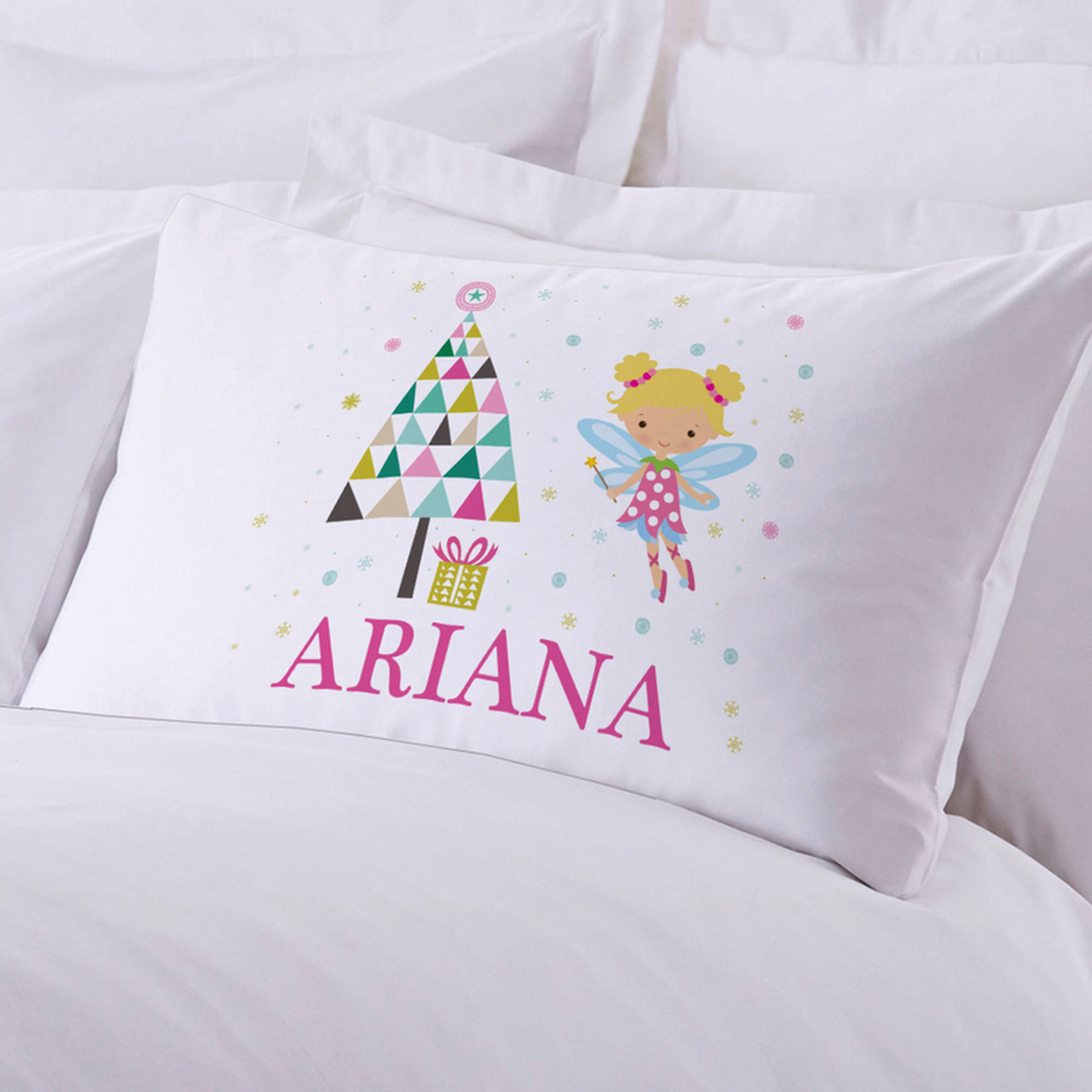 "Personalized Sugar Plum Fairy Pillow Case, 20"" x 30"""