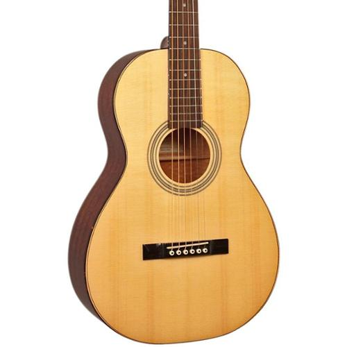 Recording King RP-10 Solid Top Single O Body Acoustic Guitar, Natural