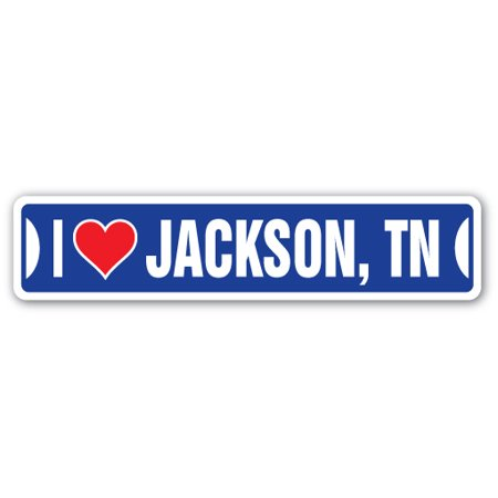 I LOVE JACKSON, TENNESSEE Street Sign tn city state us wall road décor gift](Halloween Express Jackson Tn)