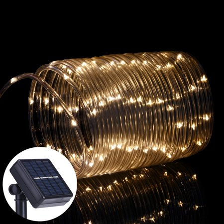 Oak Leaf 41ft 100 Led Solar Waterproof String Light Rope Lights For Seasonal Decorative Christmas Holiday Wedding Parties Warm White