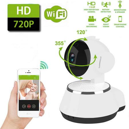 HD Wireless Wifi IP Camera Webcam Baby Pet Monitor CAM Pan Remote Home (Best Webcam Security Camera)