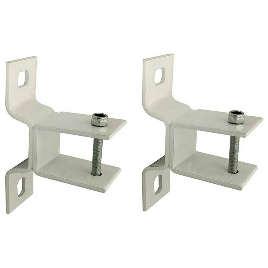 ALEKO Wall Mounting Brackets For Retractable Awnings, Lot Of 2 White  Brackets