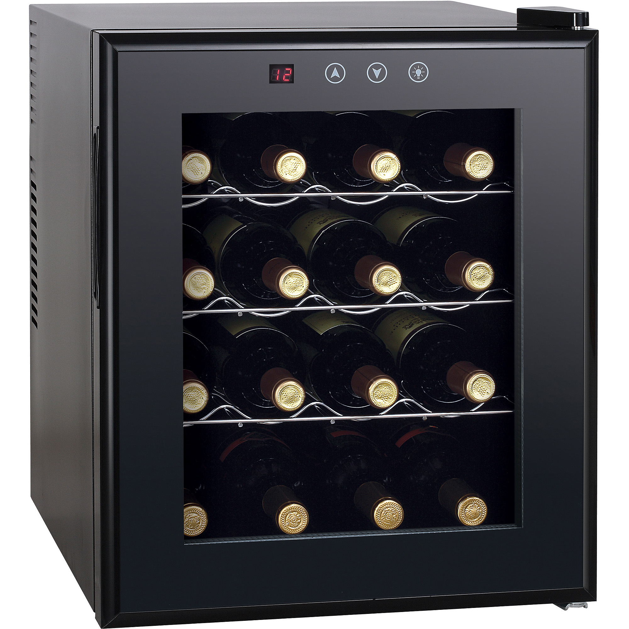 Sunpentown 16 Bottle Thermo-Electric Wine Cooler with Heating, Black