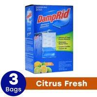 DampRid Hanging Moisture Absorber, Citrus Fresh Scent, 3 x 14 Oz
