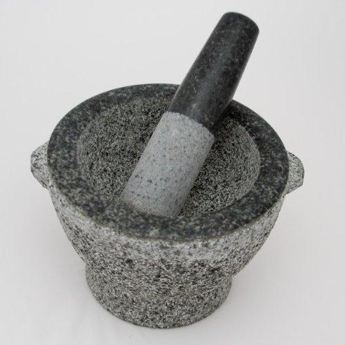 8 Inch Stone Granite Mortar and Pestle 4 Cup Capacity