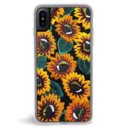 Approved Design (Zero Gravity Apple iPhone X Sunny Phone Case - Embroidered Sunflowers Design - 360° Protection, Drop Test)
