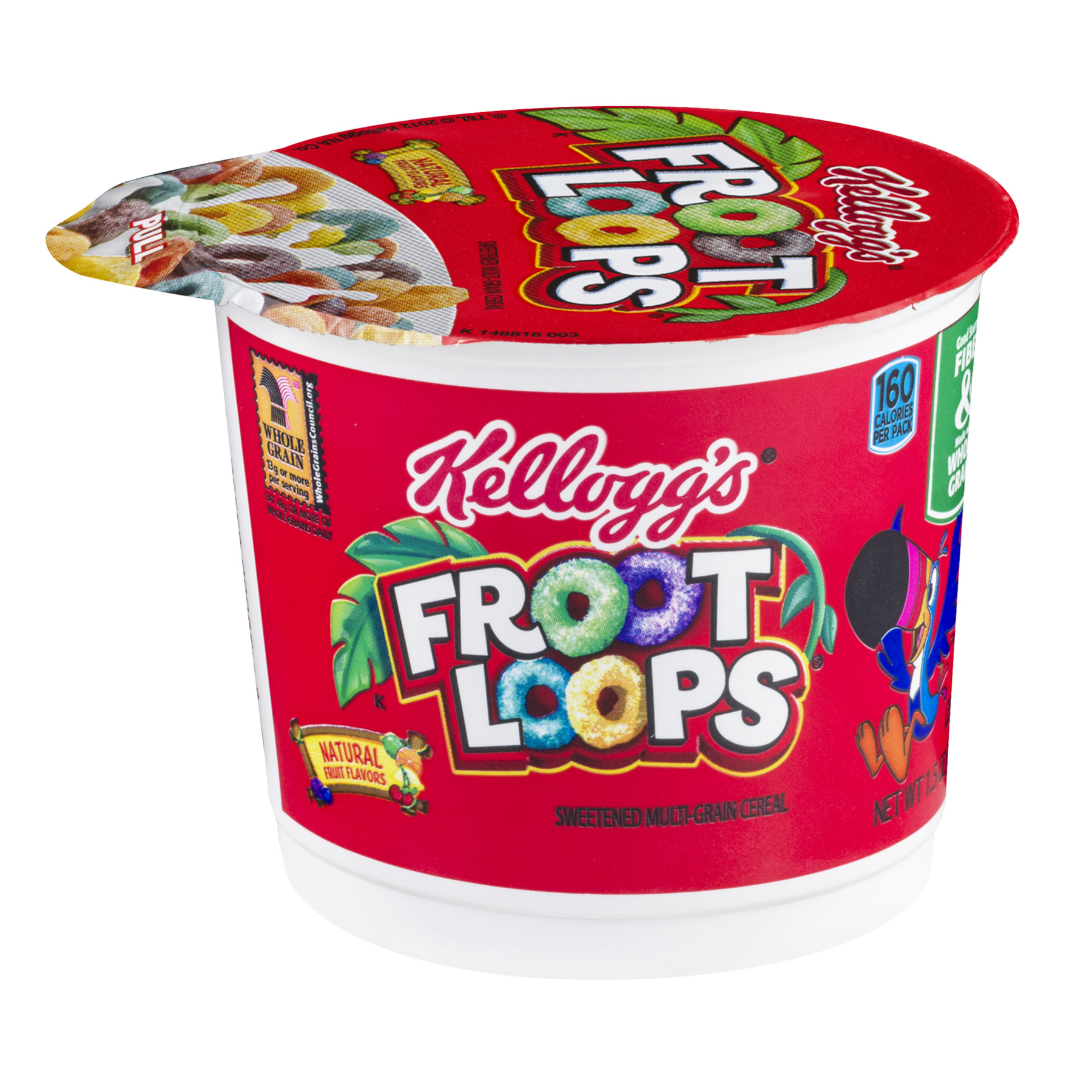 Kellogg's Froot Loops Breakfast Cereal, 1.5 Oz, Cup