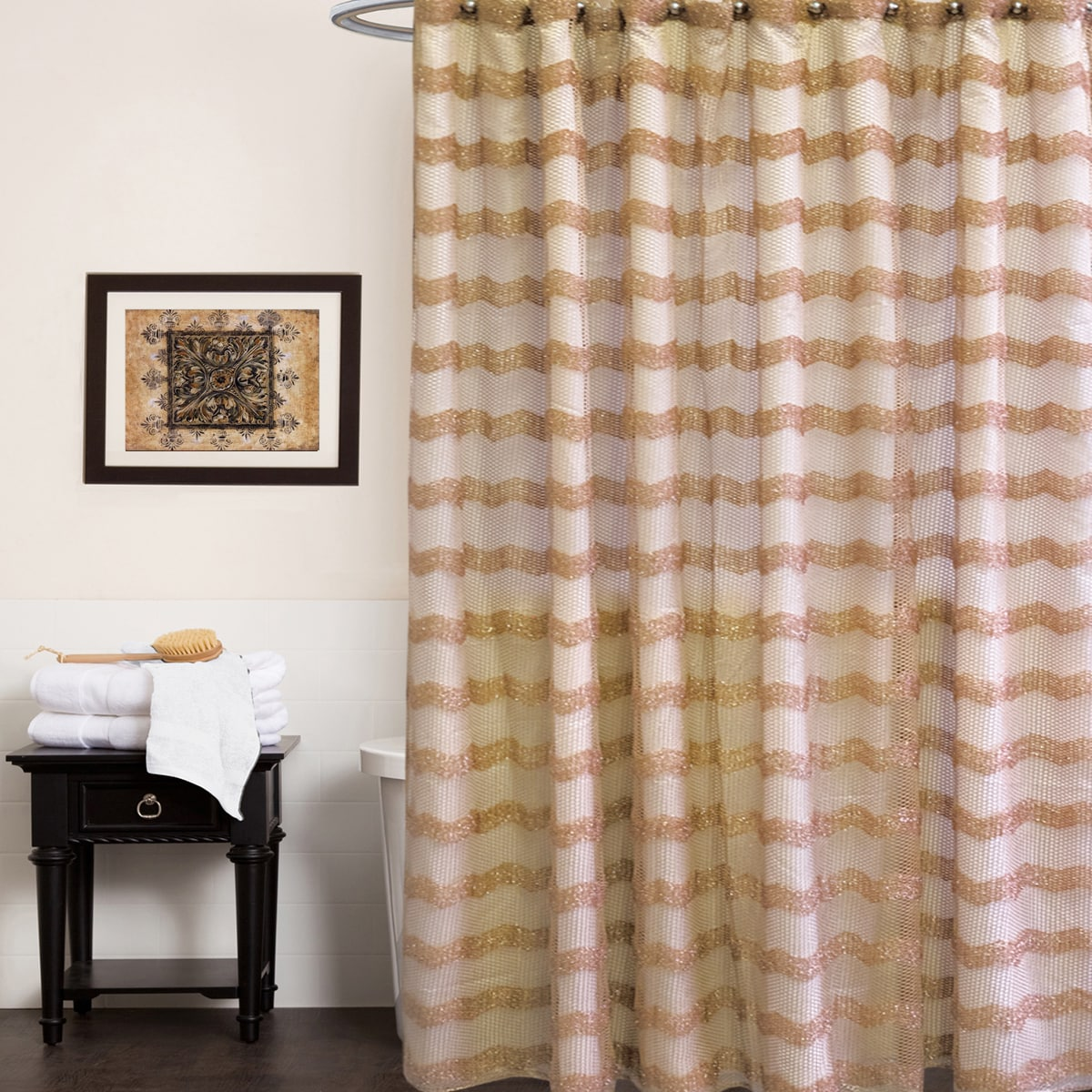 Bed Bath More: Bed Bath N More Chateau Shower Curtain And Hooks Set Or
