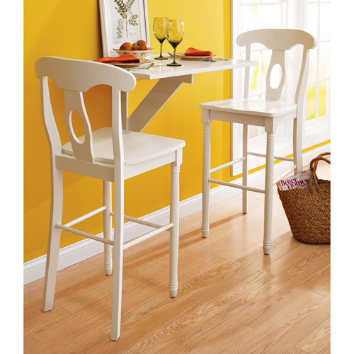 "Better Homes and Gardens European Barstool 29"", White Finish"