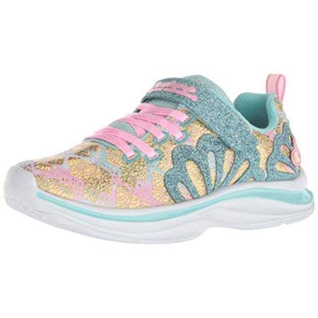 Skechers Kids Girls' Double Dreams Mermaid Muse Sneaker, AquaPink
