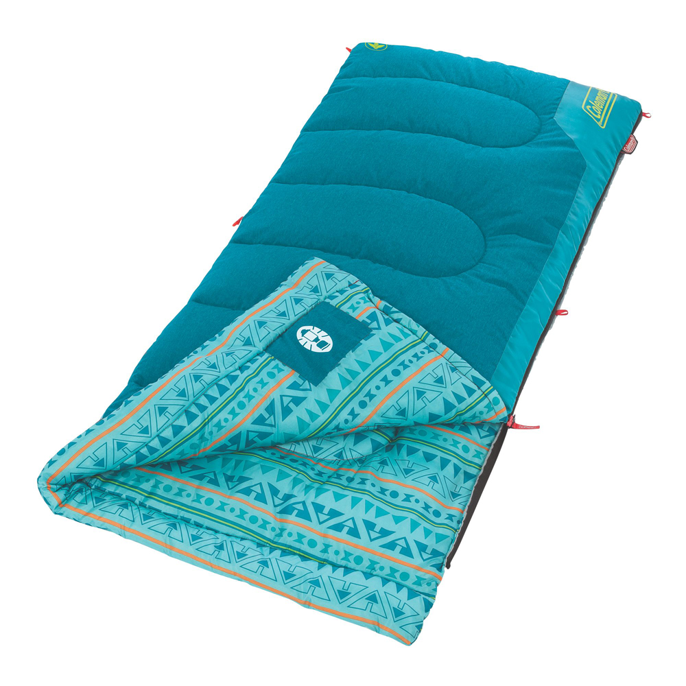 Sleeping Bag Youth 50 Rect Teal by COLEMAN