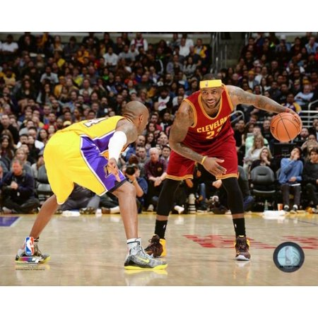 Lebron James & Kobe Bryant 2015 Action Photo Print (11 x