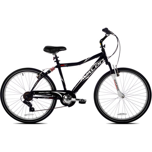 "26"" NEXT Avalon Men's Comfort Bike with Full Suspension, Black"