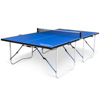Classic Sport Cross-Court Fold-Away Table Tennis Table, Official Size, 12MM, Indoor