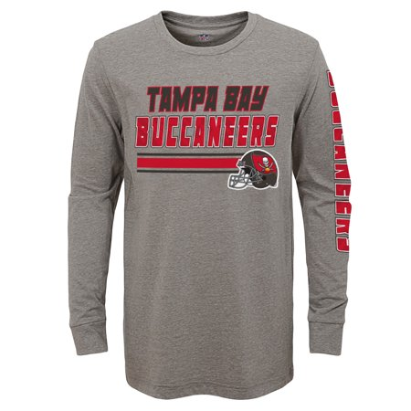 cee11aee3 Youth Gray Tampa Bay Buccaneers Tri-Blend Long Sleeve T-Shirt - Walmart.com
