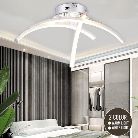 LED 3 Light Ceiling Lights Satin Nickel Kitchen Living Bedroom Lamps Chandelier Modern Design