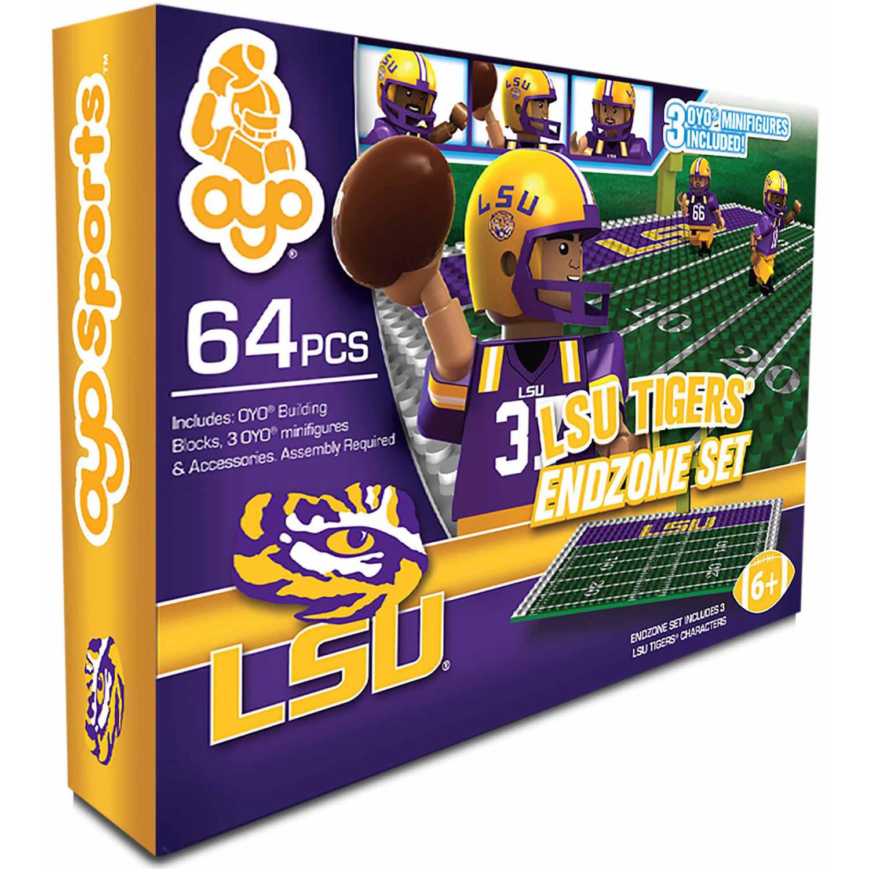OYO Sports 64-Piece NCAA End Zone Building Block Set, Louisiana State University Tigers, LSU