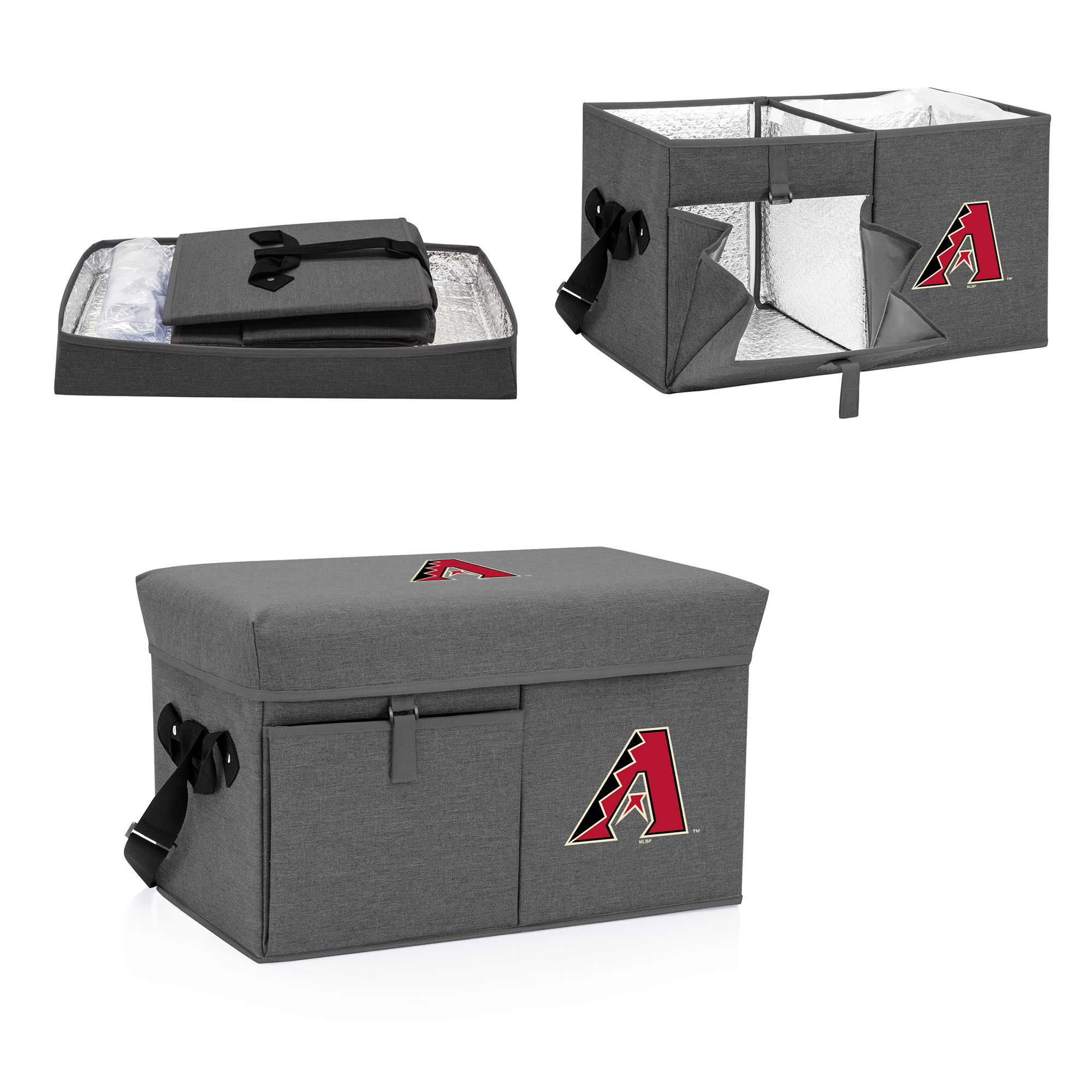 Arizona Diamondbacks Ottoman Cooler & Seat - Gray - No Size