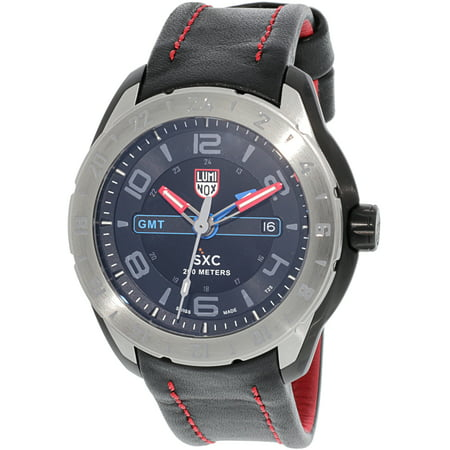 Luminox Men's Space 5127 Black Leather Swiss Quartz Dress Watch