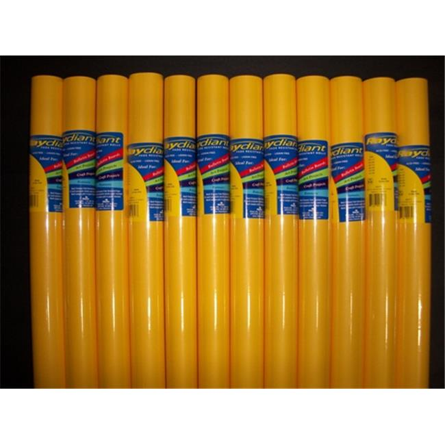 RiteCo Raydiant 80015 Riteco Raydiant Fade Resistant Art Rolls Canary Yellow 18 inch X 50 Ft.  12 Pack