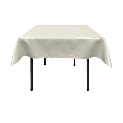 Superbe LA Linen Bridal Satin Square Tablecloth
