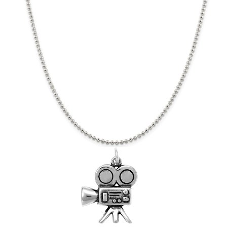 Raposa Elegance Sterling Silver Movie Camera Charm on a Sterling Silver 20