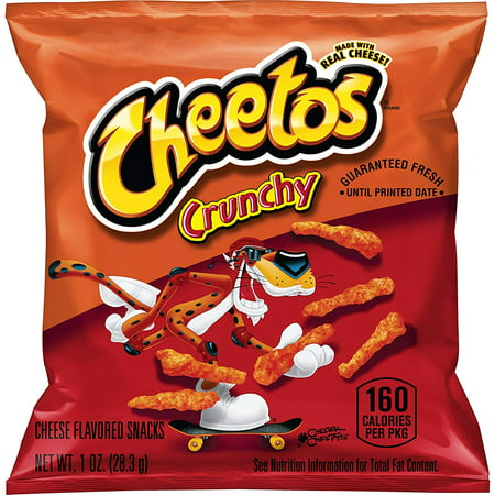 Cheetos Crunchy Cheese Flavored Snacks, 1 oz Bags, 40 Count - Mini Halloween Cheese Balls