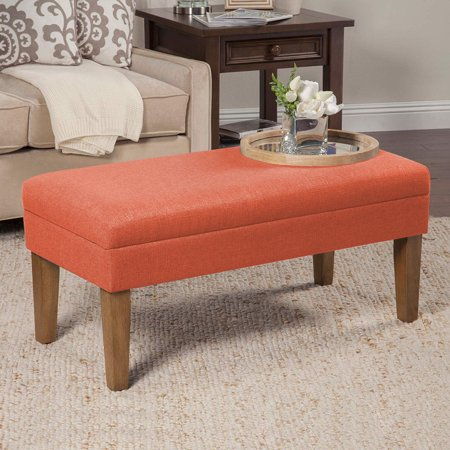 Sensational 40 Storage Bench With Hinged Lid Fabric Ottoman Entryway Ncnpc Chair Design For Home Ncnpcorg