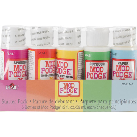 Mod Podge Decoupage Glue Starter Pack 5 bottles