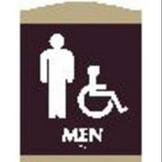 """Restroom Sign, Intersign, 62110-17 DARK BROWN, 9-3/8""""Hx7""""W"""