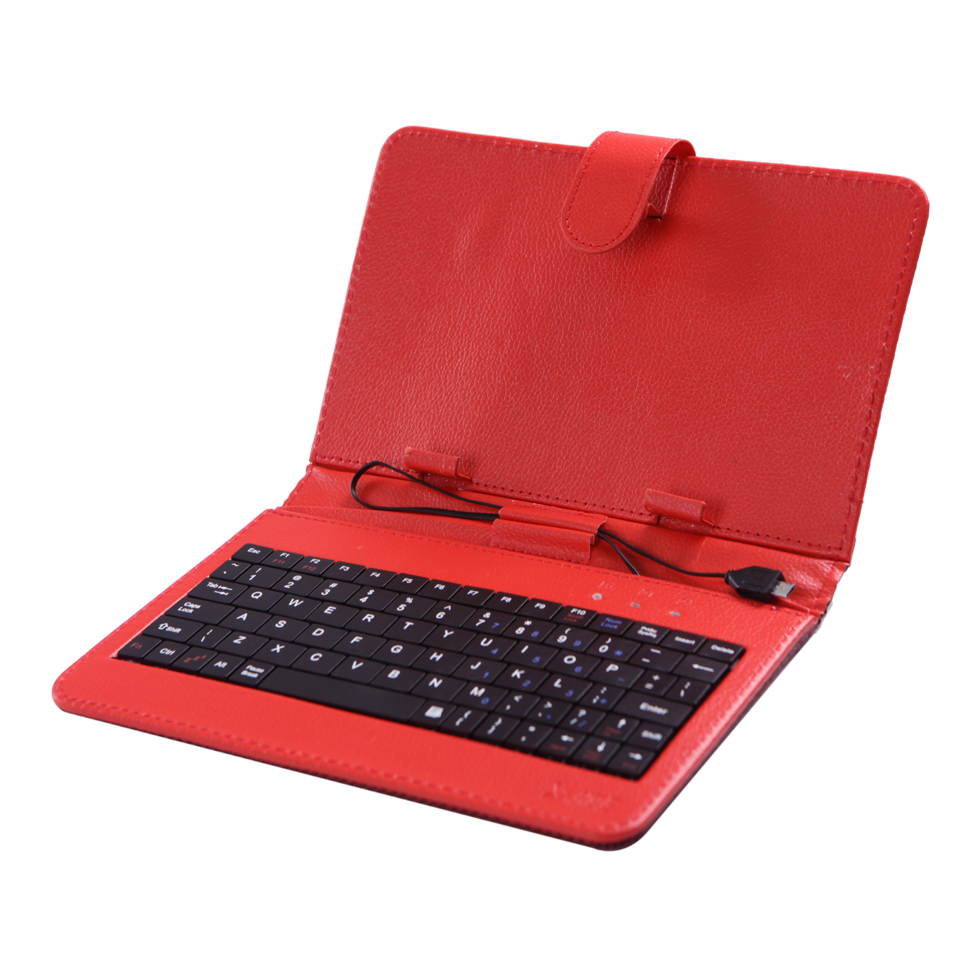 "HDE Diamond Stitch Hard Leather Folding Folio Case Cover with Micro USB Keyboard for 7"" Tablet (White)"