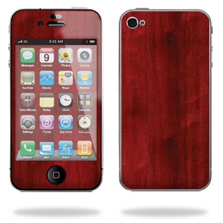 Skin Decal Wrap for Apple iPhone 4 16GB 32GB Cherry Wood Apple Iphone Cherries