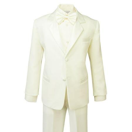 Spring Notion Boys' Classic Fit Tuxedo Set Ivory (Boys In Tuxedo)