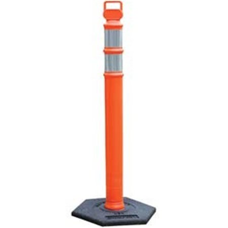 Cortina 831-03-734RBC Ez Grab Delineator Post, 3 in. Dia x 45 in. H, Orange